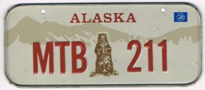 Alaska Bicycle License Plate MTB 211