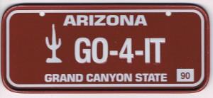 Arizona Bicycle License Plate 90