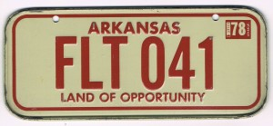 Arkansas Bicycle License Plate 78