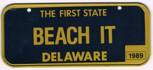 Delaware Bicycle License Plate 89