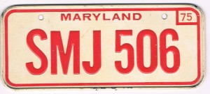 Maryland Bicycle License Plate 75