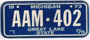 Michigan Bicycle License Plate 75