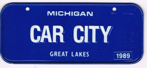 Michigan Bicycle License Plate 89