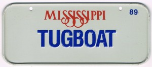 Mississippi Bicycle License Plate 89 Tugboat