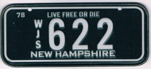 New Hampshire Bicycle License Plate 78