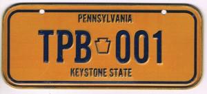 Pennsylvania Bicycle License Plate Keystone State