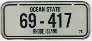 Rhode Island Bicycle License Plate 78