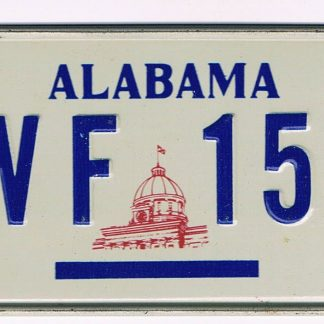 Alabama Bicycle License Plate 1977