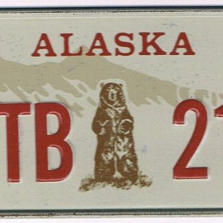 Alaska Bicycle License Plate MTB 211