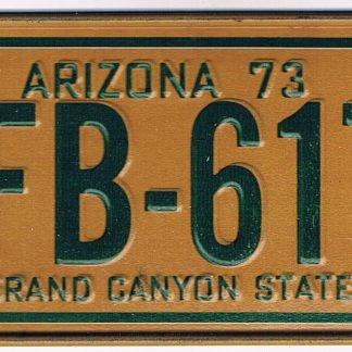 Arizona Bicycle License Plate 1978