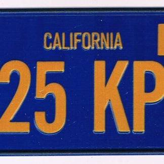 California Bicycle License Plate 78