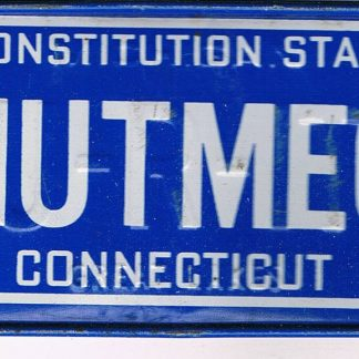 Connecticut Bicycle License Plate '86