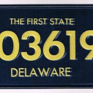 Delaware Bicycle License Plate