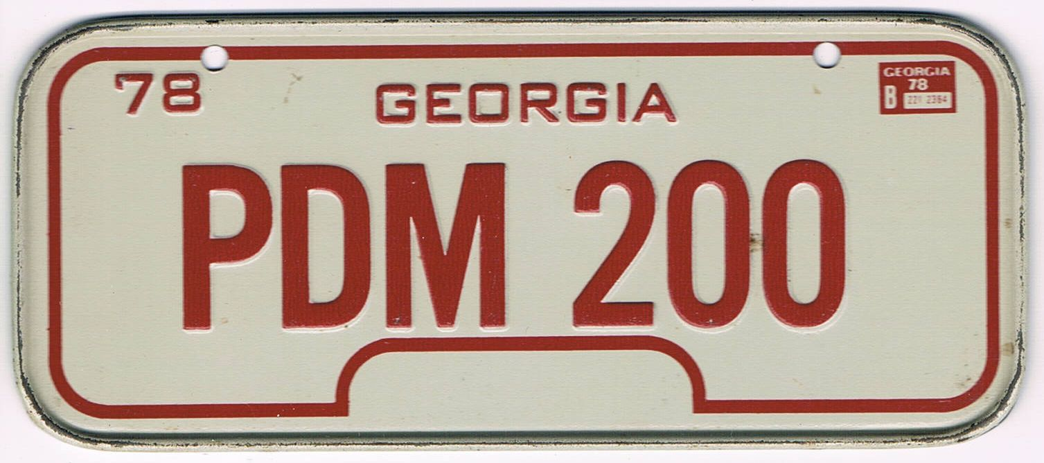 Georgia Bicycle License Plate 78