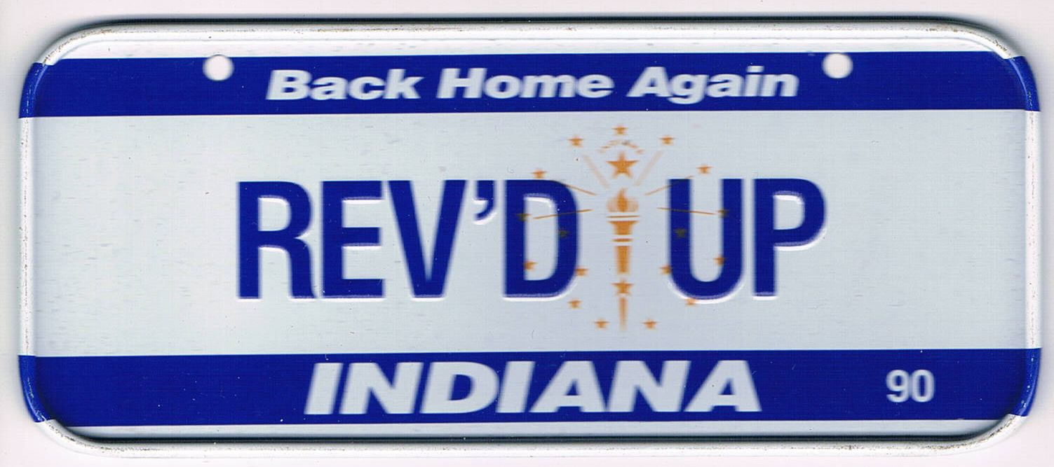 Indiana Bicycle License Plate 1990