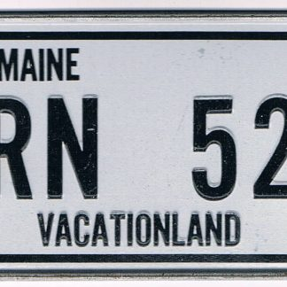 Maine Bicycle License Plate