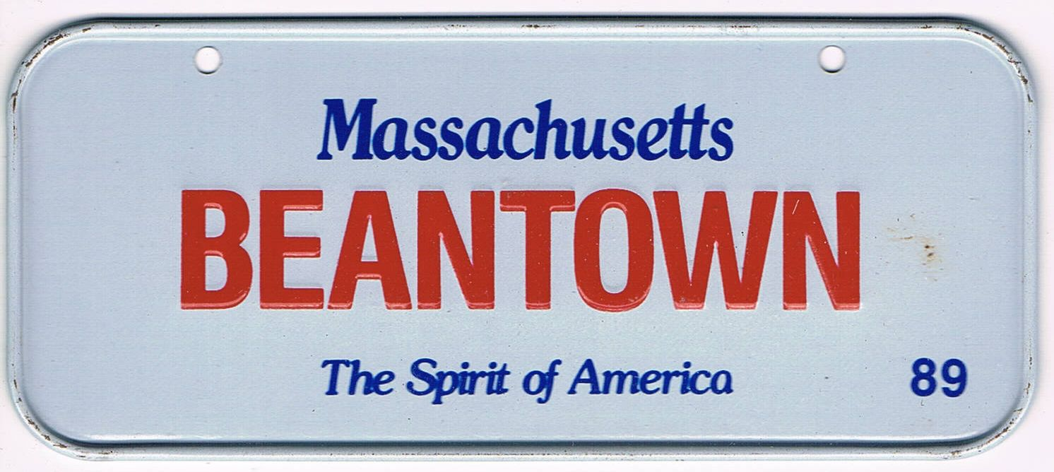 Massachusetts Bicycle License Plate 89