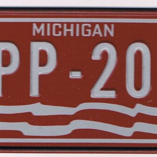 Michigan Bicycle License Plate 78