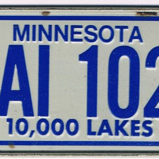 Minnesota Bicycle License Plate 78