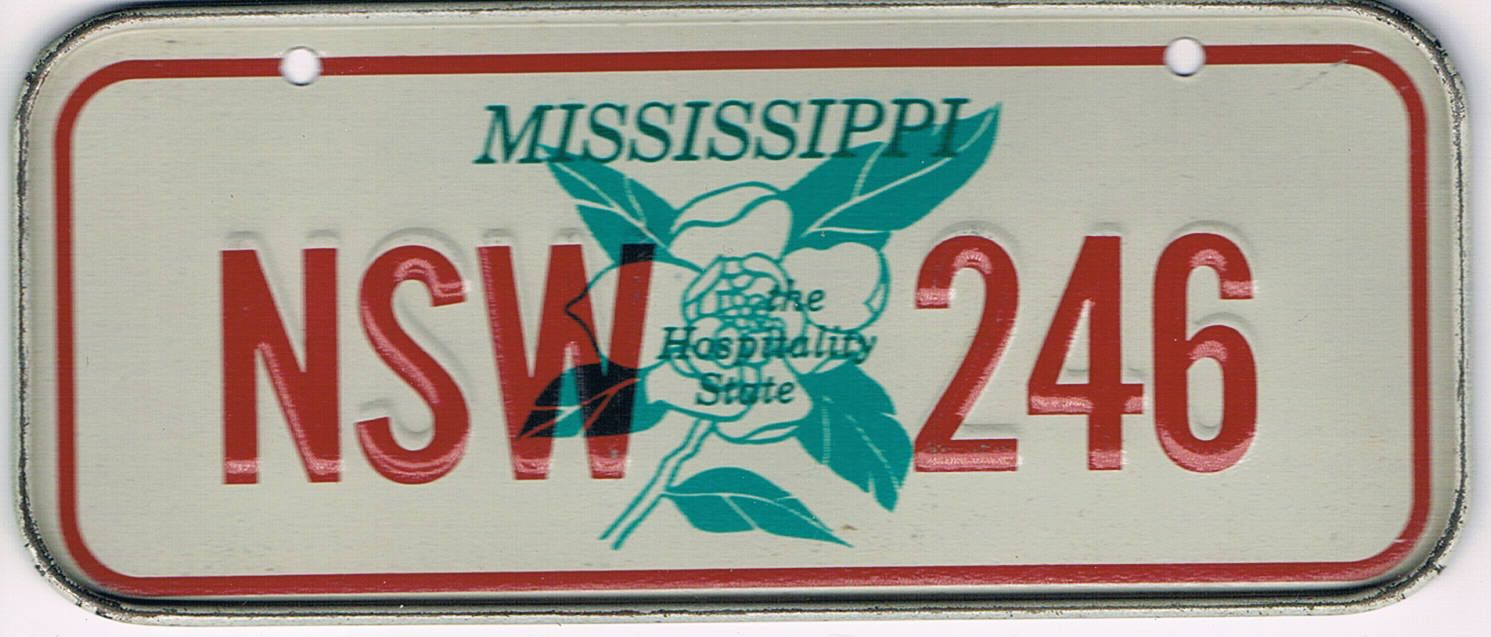 Mississippi Bicycle License Plate