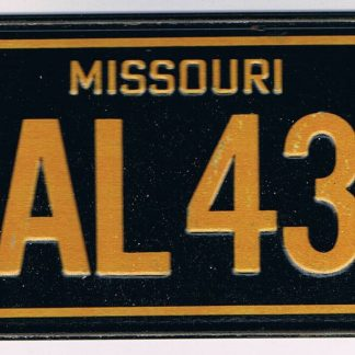 Missouri Bicycle License Plate 1978