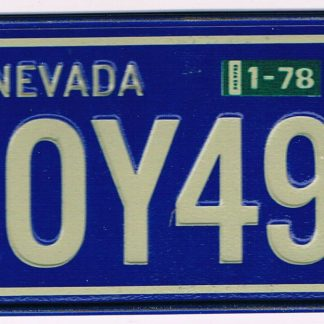 Nevada Bicycle License Plate 1978 ROY496
