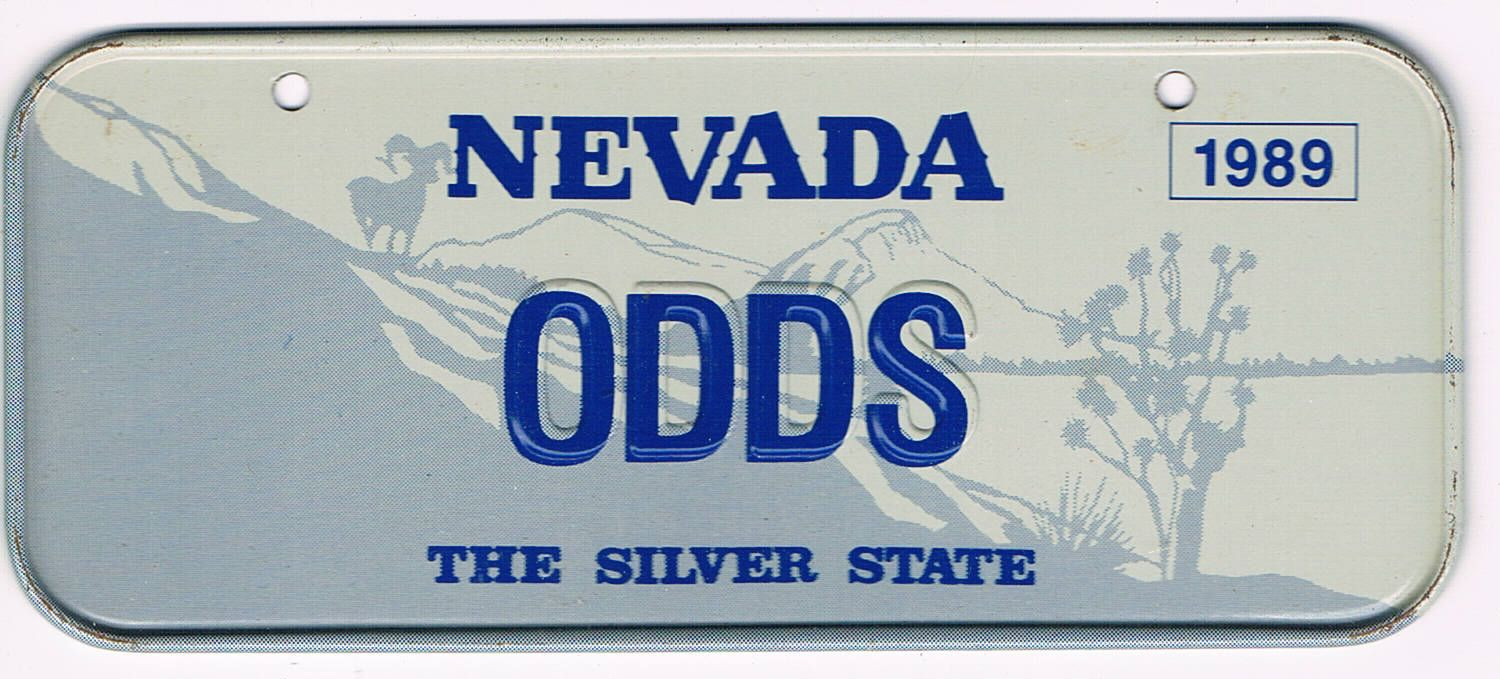 Nevada Bicycle License Plate 89