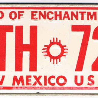 New Mexico Bicycle License Plate 1975