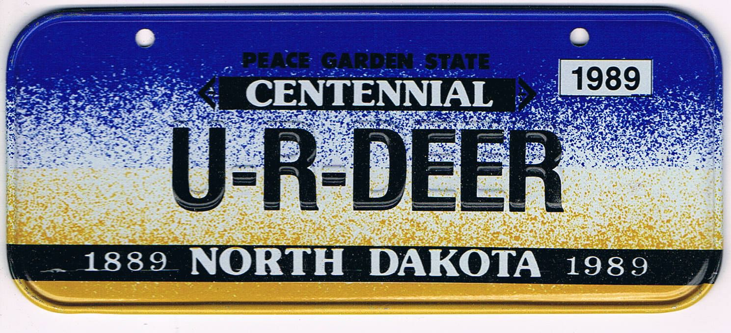 North Dakota Bicycle License Plate 89