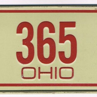 Ohio Bicycle License Plate J 365 D