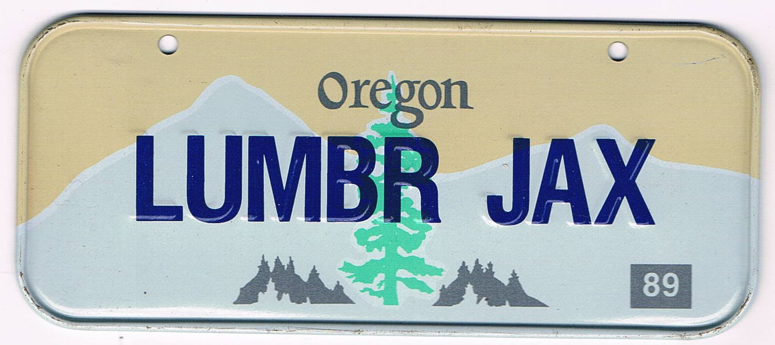 Oregon Bicycle License Plate 89