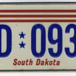 South Dakota Bicycle License Plate 78