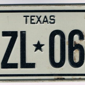 TEXAS Bicycle License Plate 78