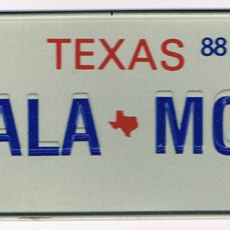 Texas Bicycle License Plate 88