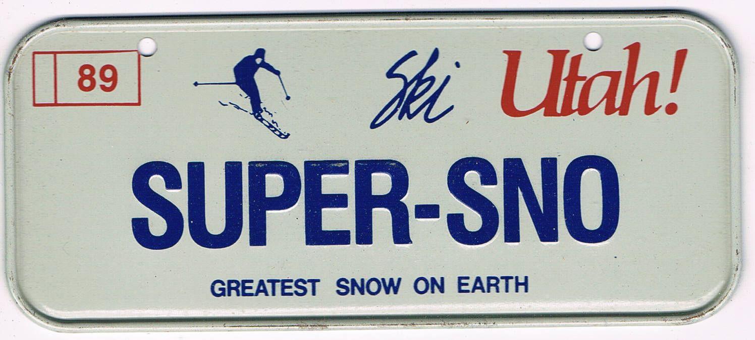 Utah Bicycle License Plate 89