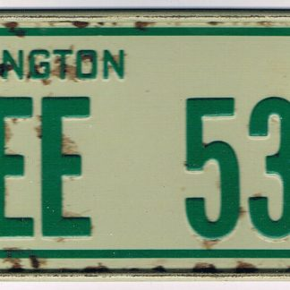 Washington Bicycle License Plate 78