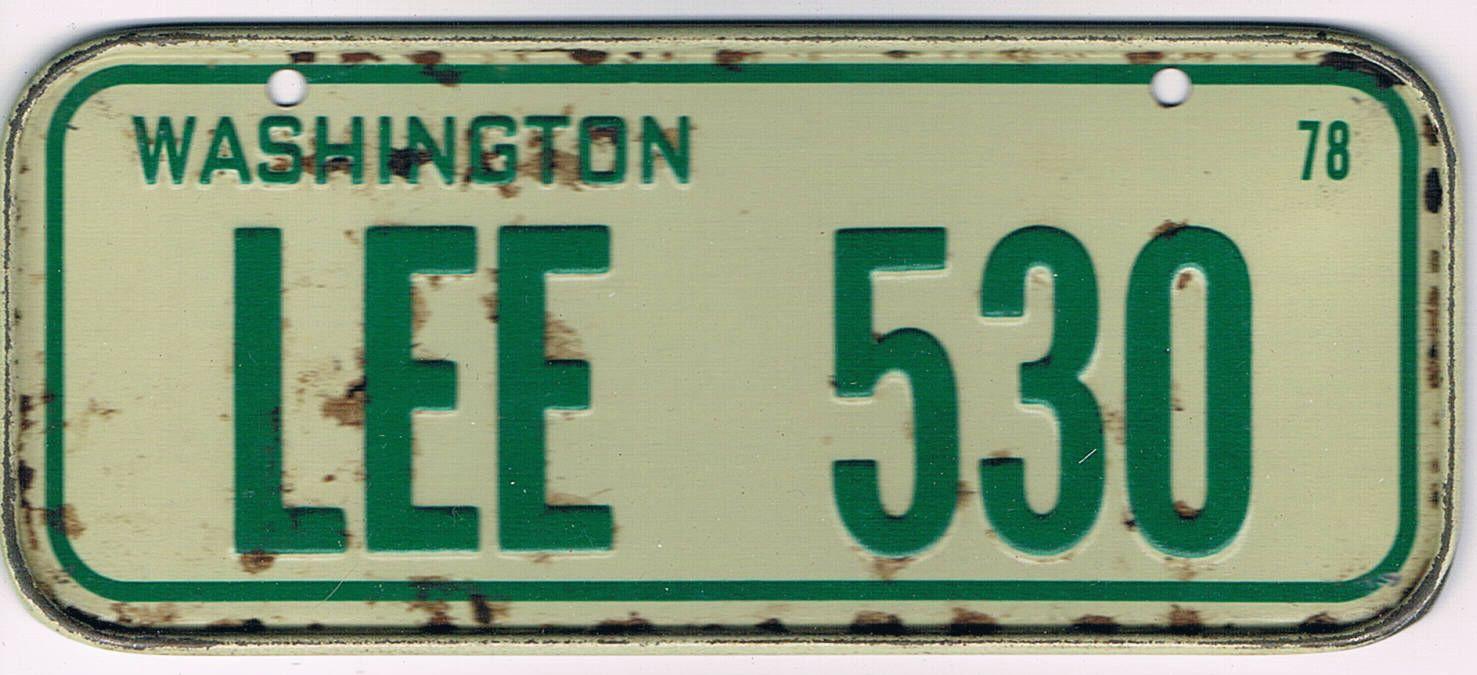 Washington Bicycle License Plate 78