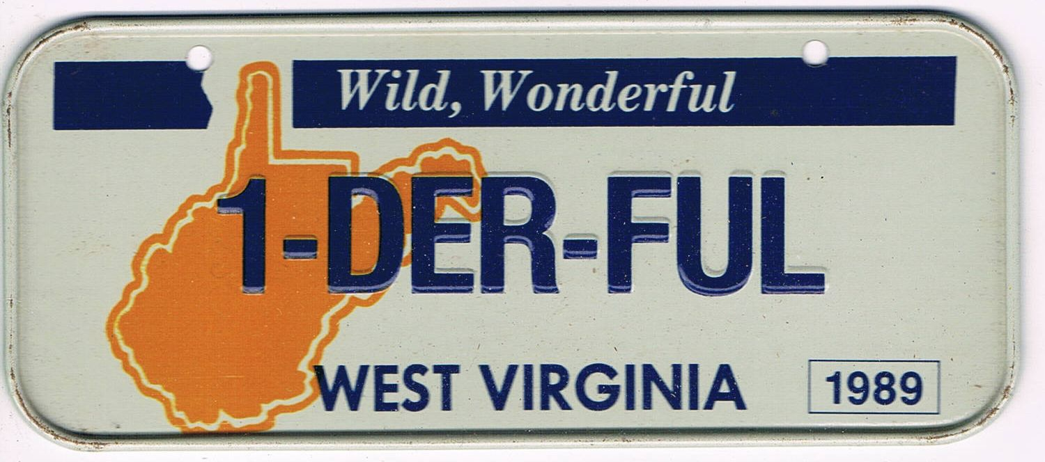 West Virginia Bicycle License Plate 89