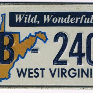 West Virginia Bicycle License Plate