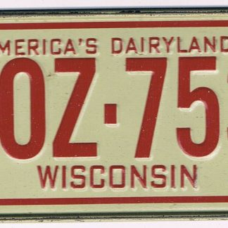 Wisconsin Bicycle License Plate 78